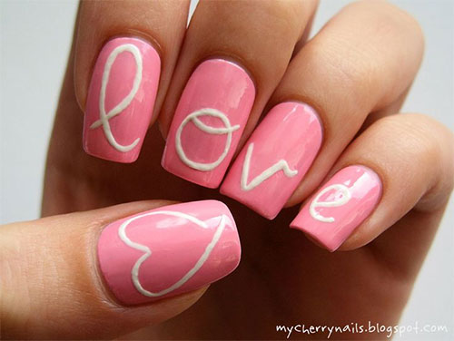 15-Cute-Valentines-Day-I-Love-You-Nail- - 15 Cute Valentine's Day I Love You Nail Art Designs, Ideas, Trends