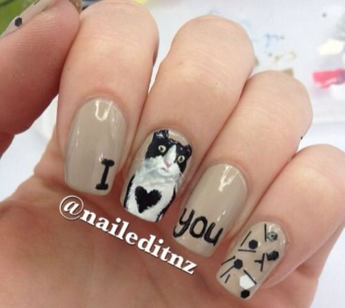 15-Cute-Valentines-Day-I-Love-You-Nail- - 15 Cute Valentine's Day I Love You Nail Art Designs, Ideas, Trends