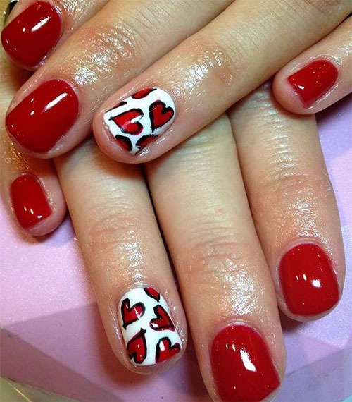 Nail Art Valentines: 15 Easy & Cute Valentine's Day Nail Art Designs, Ideas