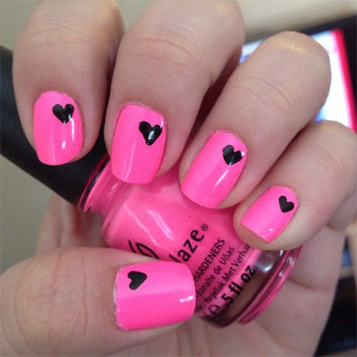 15-Easy-Cute-Valentines-Day-Nail-Art-Designs- - 15 Easy & Cute Valentine's Day Nail Art Designs, Ideas, Trends