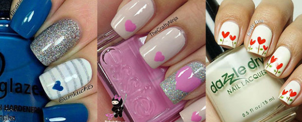 Easy valentines day nail art fabulous nail art designs 15 easy cute valentines day nail art designs ideas trends stickers 2015 prinsesfo Image collections