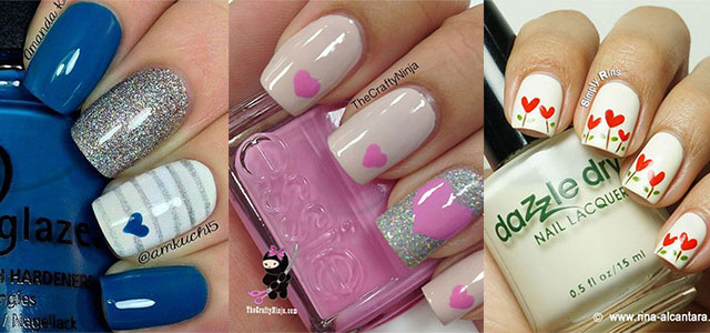 15 Easy & Cute Valentine\'s Day Nail Art Designs, Ideas, Trends ...