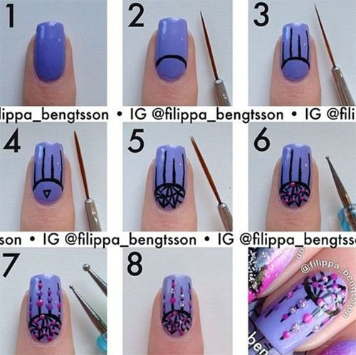 15 Easy Step By Step Valentine 39 S Day Nail Art Tutorials For Beginners Learners 2015