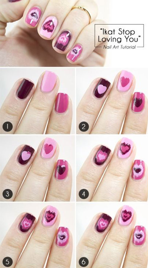 15-Easy-Step-By-Step-Valentines-Day-Nail-Art-Tutorials-For-Beginners-Learners-2015-3