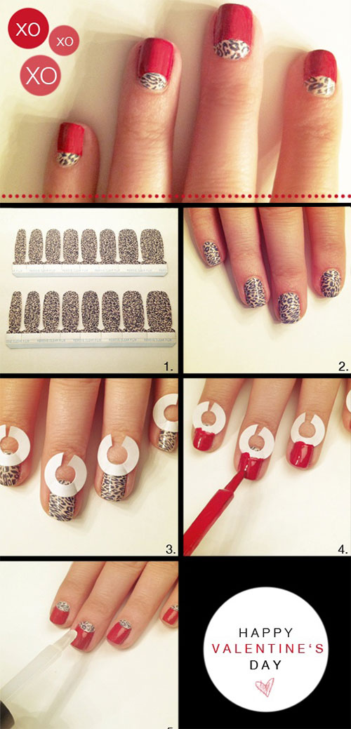 15+ Easy Step By Step Valentine\'s Day Nail Art Tutorials For ...