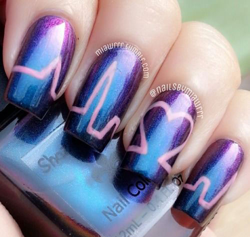 15-Valentines-Day-Love-Heart-Beat-Nail-Art-Designs-Ideas-Trends-Stickers-2015-10