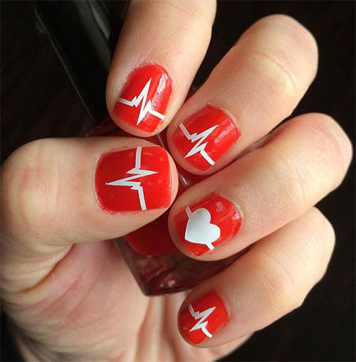 15 Valentine S Day Love Heart Beat Nail Art Designs Ideas Trends Amp Stickers 2015 Fabulous
