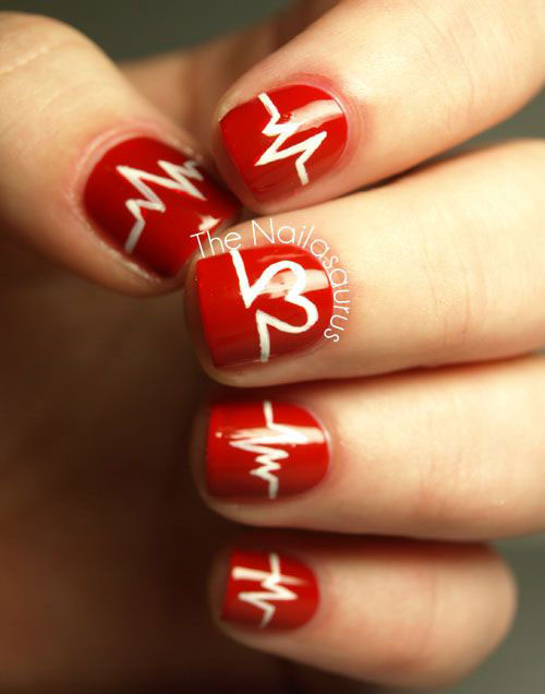 15 Valentine\'s Day Love Heart Beat Nail Art Designs, Ideas, Trends ...