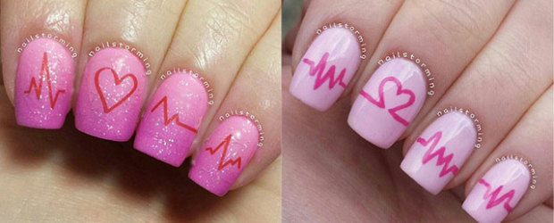 Fabulous nail art designs decor your nails part 40 15 valentines day love heart beat nail art designs ideas trends stickers 2015 prinsesfo Gallery