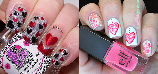 18 simple valentines day red heart nail art designs ideas trends stickers 2015 fabulous nail art designs