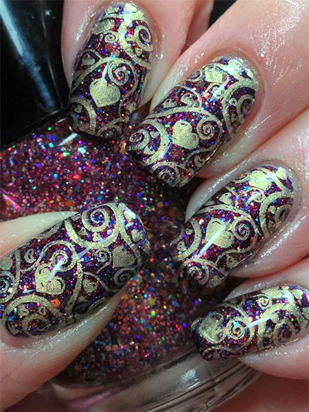 20 Best Valentine S Day Acrylic Nail Art Designs Ideas Trends Amp Stickers 2015 Fabulous Nail