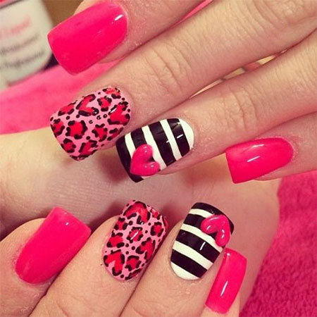 20-Best-Valentines-Day-Acrylic-Nail-Art-Designs- - 20 Best Valentine's Day Acrylic Nail Art Designs, Ideas, Trends