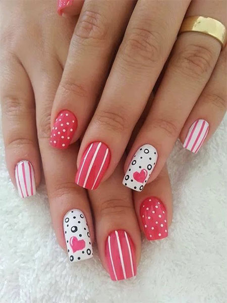 Acrylic nail designs for valentines day acrylic nail art designs view images best valentine s day acrylic nail art prinsesfo Gallery
