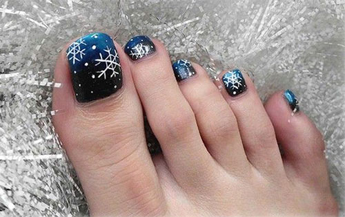 Inspiring-Winter-Toe-Nail-Art-Designs-Ideas-Trends- - Inspiring Winter Toe Nail Art Designs, Ideas, Trends & Stickers