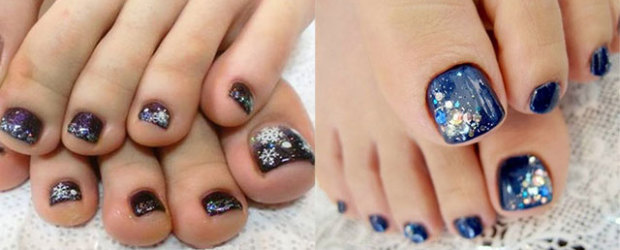 Inspiring Winter Toe Nail Art Designs, Ideas, Trends & Stickers 2015 - Winter Toe Nail Art Designs Fabulous Nail Art Designs