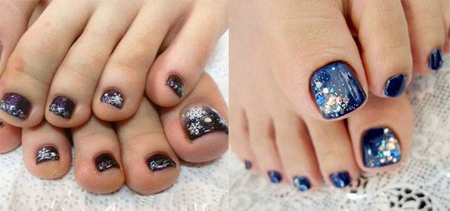 Inspiring Winter Toe Nail Art Designs Ideas Trends Stickers 2015