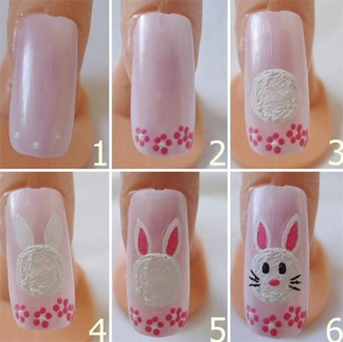 10 Step By Easter Nail Art Tutorials