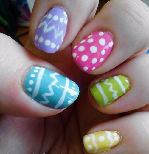15 easter egg nail art designs ideas trends - Simple Nail Design Ideas