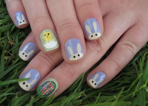 Easter Bunny Nail Art Designs Ideas Trends Stickers 2015 1 20 Easter ...