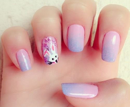 Easter Bunny Nail Art Designs Ideas Trends Stickers 2015 12 20 Easter ...