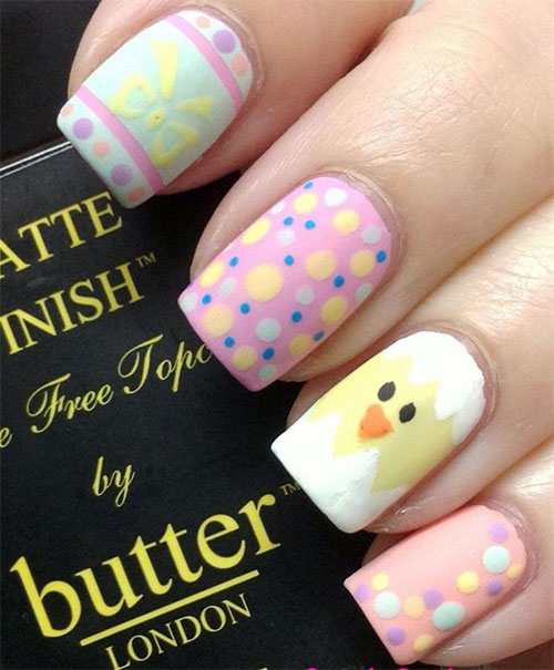 Cute Easter Gel Nail Art Designs Ideas Trends Amp Stickers 2015 Fabulous Nail Art Designs