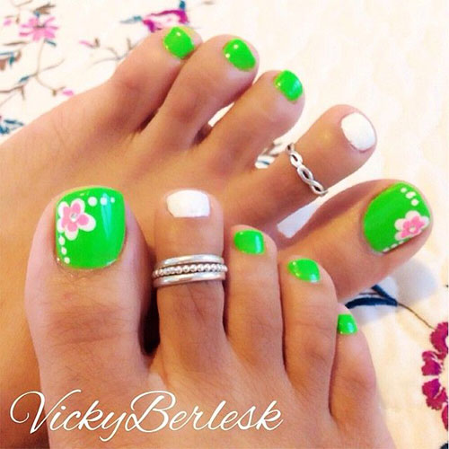 10 spring toe nail art designs ideas trends stickers