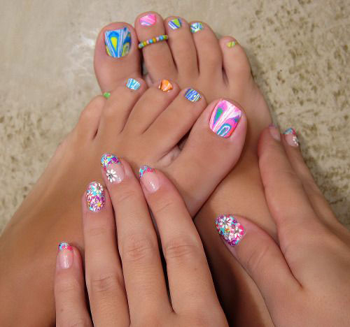 10+ Spring Toe Nail Art Designs, Ideas, Trends & Stickers