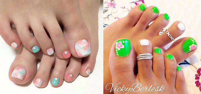 10+ Spring Toe Nail Art Designs, Ideas, Trends & Stickers 2015 | Fabulous Nail  Art Designs - 10+ Spring Toe Nail Art Designs, Ideas, Trends & Stickers 2015