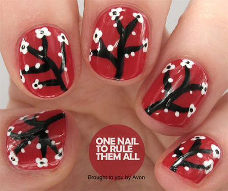 15-Cherry-Blooms-Spring-Nail-Art-Designs-Ideas-Trends-Stickers-2015-6
