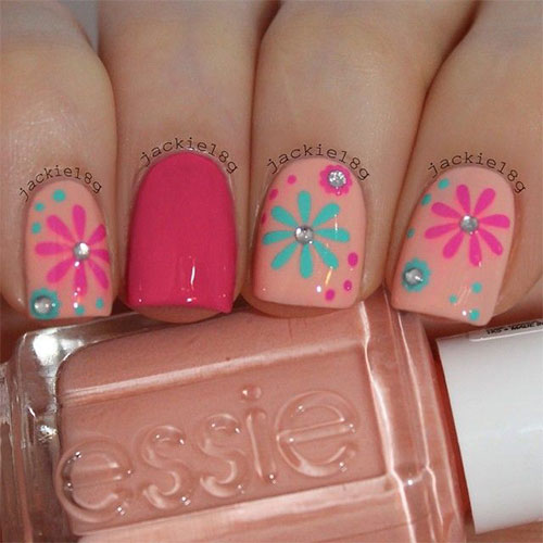 15 Spring Flower Nail Art Designs Ideas Trends Amp Stickers 2015 Fabulous Nail Art Designs