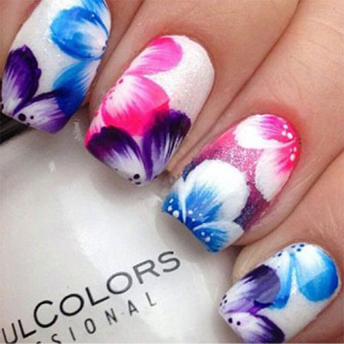 15 spring flower nail art designs ideas trends stickers 2015 fabulous nail art designs. Black Bedroom Furniture Sets. Home Design Ideas