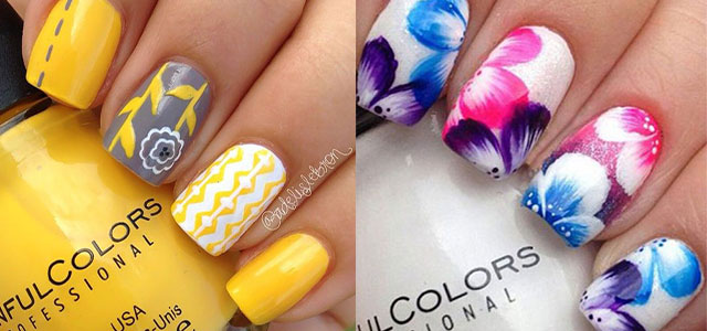 15+ Spring Flower Nail Art Designs, Ideas, Trends & Stickers 2015 |  Fabulous Nail Art Designs - 15+ Spring Flower Nail Art Designs, Ideas, Trends & Stickers 2015