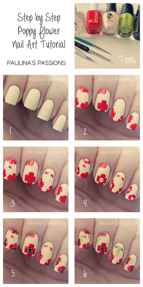 Easy Step By Step Spring Nail Art Tutorials For Beginners & Learners ...
