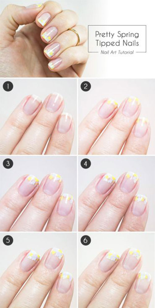 Easy-Step-By-Step-Spring-Nail-Art-Tutorials-For-Beginners-Learners-2015-2