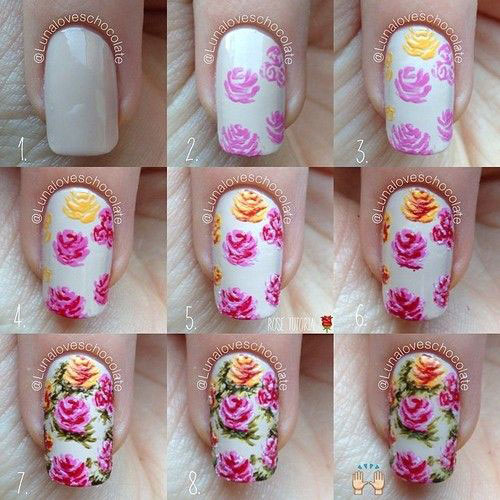 Easy-Step-By-Step-Spring-Nail-Art-Tutorials-For-Beginners-Learners-2015-8