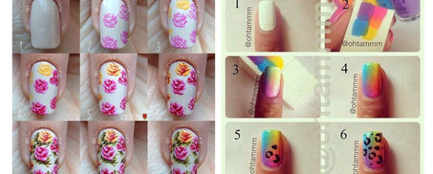 Easy-Step-By-Step-Spring-Nail-Art-Tutorials-For-Beginners-Learners-2015