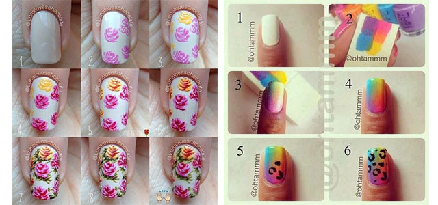 Easy Step By Step Spring Nail Art Tutorials For Beginners Learners