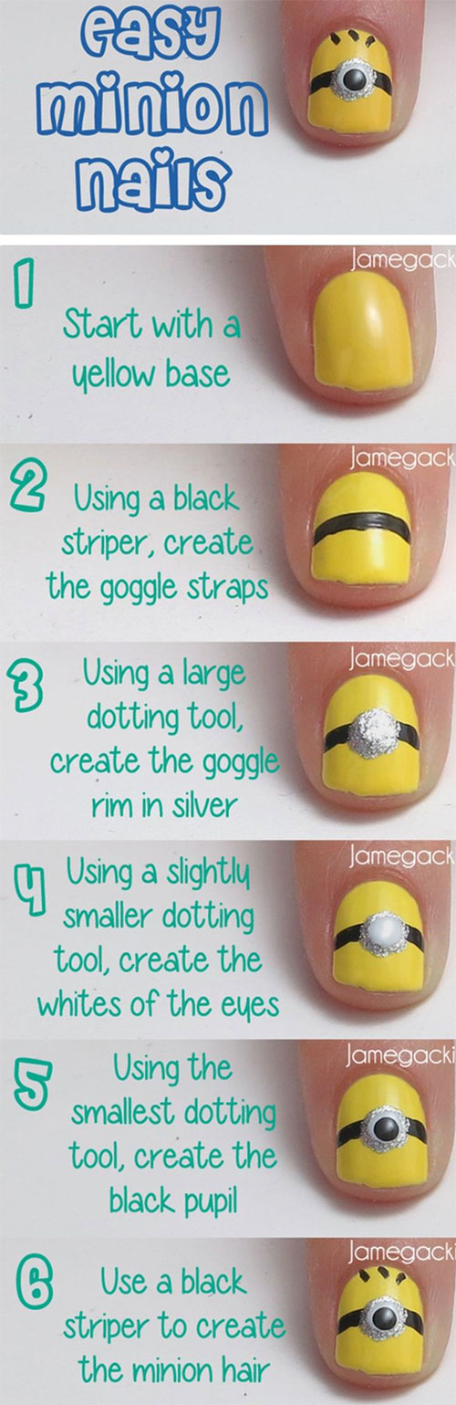 10-Easy-Step-By-Step-Minion-Nail-Art-Tutorials-For-Beginners-Learners-2015-1