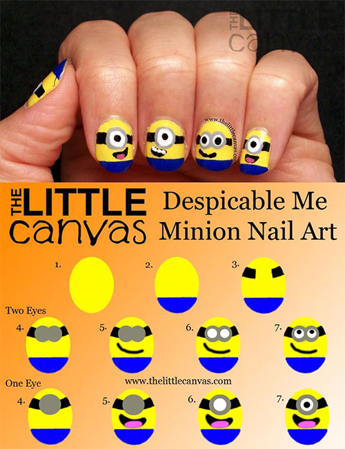 10-Easy-Step-By-Step-Minion-Nail-Art-Tutorials-For-Beginners-Learners-2015-10