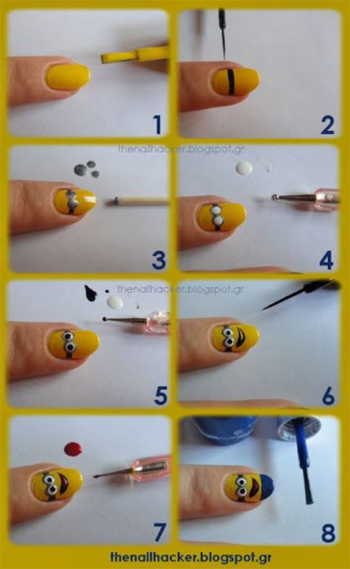 10-Easy-Step-By-Step-Minion-Nail-Art-Tutorials-For-Beginners-Learners-2015-3
