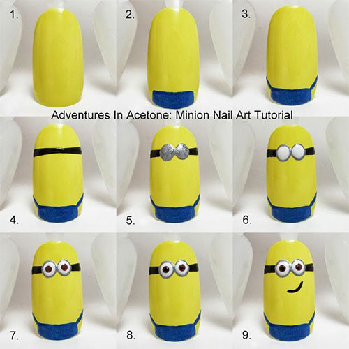 10-Easy-Step-By-Step-Minion-Nail-Art-Tutorials-For-Beginners-Learners-2015-5