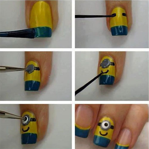 10-Easy-Step-By-Step-Minion-Nail-Art-Tutorials-For-Beginners-Learners-2015-6