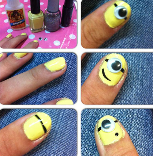 10-Easy-Step-By-Step-Minion-Nail-Art-Tutorials-For-Beginners-Learners-2015-7