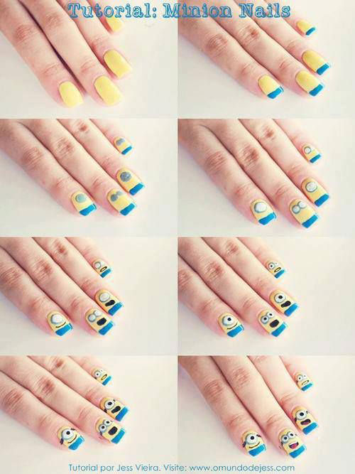 10-Easy-Step-By-Step-Minion-Nail-Art-Tutorials-For-Beginners-Learners-2015-8