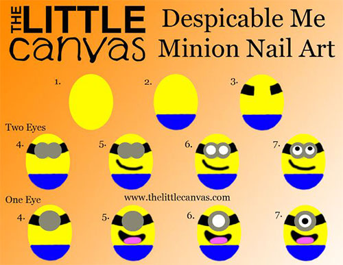 10-Easy-Step-By-Step-Minion-Nail-Art-Tutorials-For-Beginners-Learners-2015-9