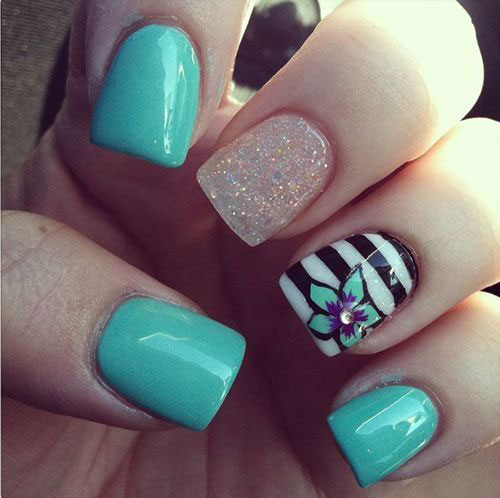 Pretty Nail Art Designs: 15+ Cool & Pretty Summer Acrylic Nail Art Designs, Ideas
