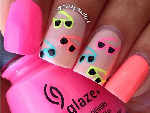 15-Fun-Bright-Summer-Gel-Nail-Art-Designs- - 15+ Fun & Bright Summer Gel Nail Art Designs, Ideas, Trends