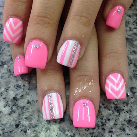 Pink Nail Art Designs, Ideas, Trends amp; Stickers 2015  Fabulous Nail