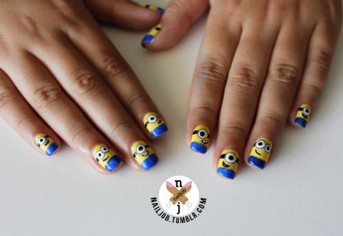 25 Awesome Minion Nail Art Designs Ideas Trends Stickers 2015
