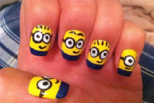 25-Awesome-Minion-Nail-Art-Designs-Ideas-Trends-Stickers-2015-10